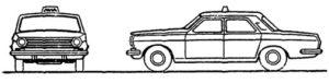 легковая машина такси Шашки такси ГОСТ 25869-90