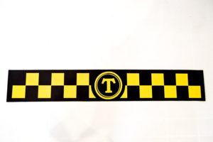 Наклейка такси Винил магнит 100